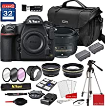 Nikon D850 DSLR Camera with AF-S NIKKOR 50mm f/1.8G Lens + Deluxe Accessory Kit (2 Battery Bundle)