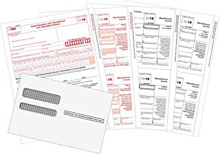 1099 MISC Forms 2019, 1099 MISC Laser Forms IRS Approved Designed for Quickbooks and Accounting Software2019, 4 Part Tax Forms Kit, 25 Envelopes Self Seal, 25 Vendor Kit - Total 54 Forms