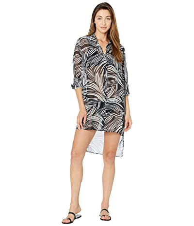 Gottex High-Low Beach Blouse Essential (Black/White) Women
