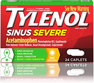 Best Tylenol Sinus Severe Daytime Caplets with Acetaminophen, Guaifenesin & Phenylephrine HCl, 24 ct Review