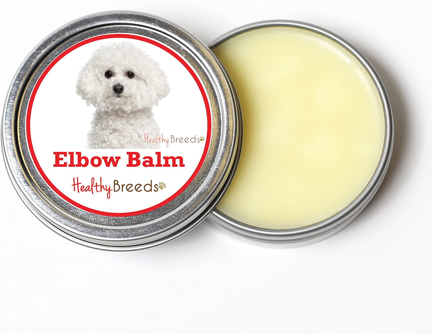 Healthy Breeds Dog Elbow Butter for Bichon Frise  Over 200 Breeds  All Natural & Organic Oils Heal Dry Cracked & Chapped Skin  Unscented Formula  2 oz Tin