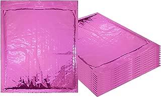 pink metallic bubble mailers