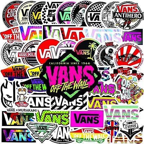 Vans Stickers,50 Van Decal Stickers Waterproof Vinyl Stickers Perfect for Hydro Flask Laptop Phone Car Skateboard (Vans)