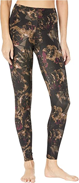 Dark Brown Floral