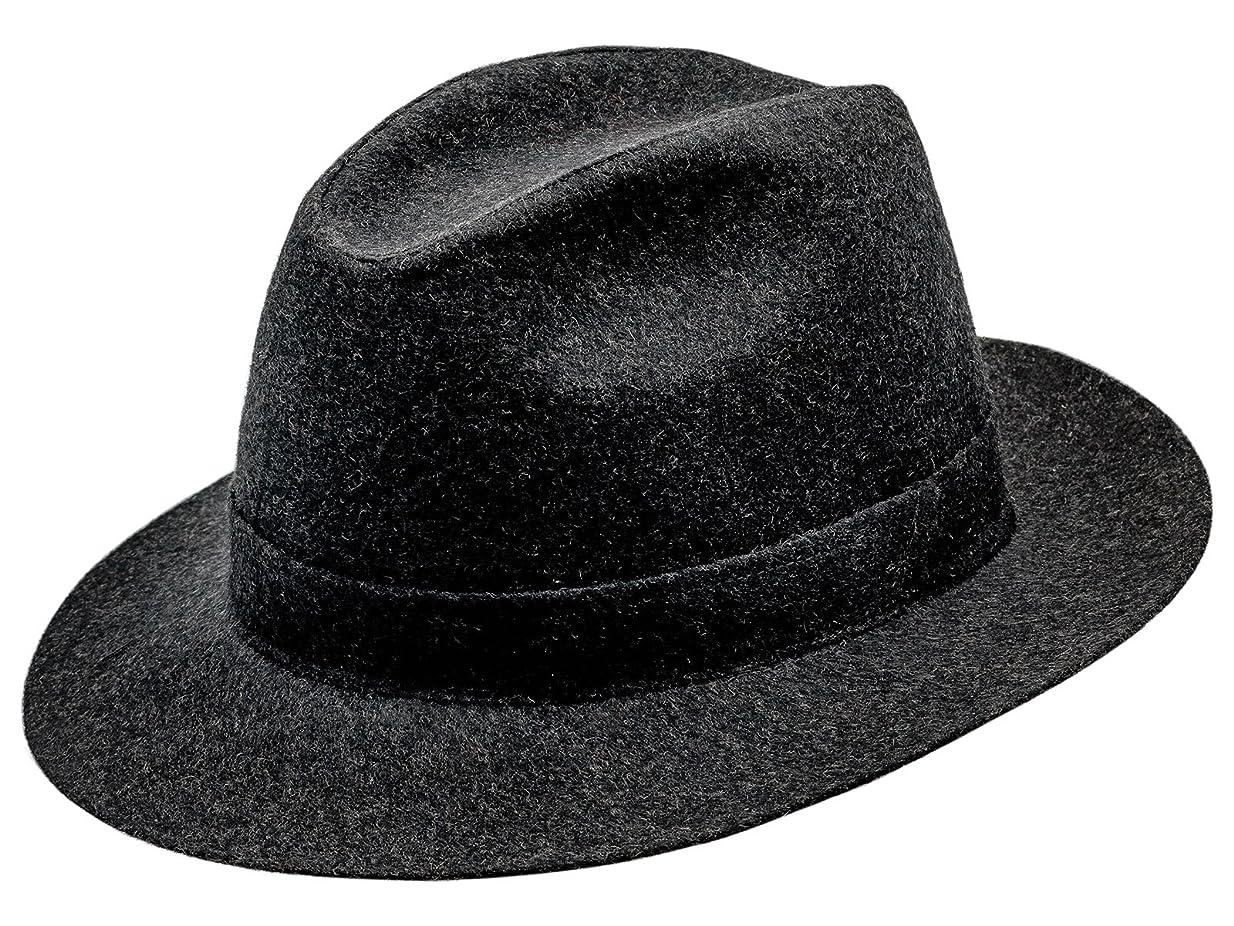 気分が良い一時停止はっきりしないSterkowskiウール縫製コルレオーネFedoraマレンゴヴィンテージ帽子