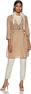 BIBA Women's Cotton Asymmetrical Hemline Salwar Suit Set