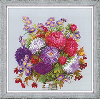 RIOLIS 1773 - Bouquet with Asters - Cross Counted Stitch Kit 15.75