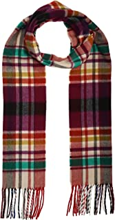 Accessories First Multi Plaid Scarf - Fashionable Womens Acrylic Woven Scarf with Twisted Fringes