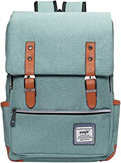 Vintage Laptop Backpack, British Style Casual Waterproof Oxford School College Backpack Light Rucksack