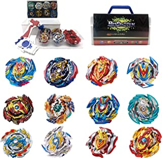 BEY Burst Blade Battle Latest Set -- Complete Set with 12pc and Battling Tops, & Launchers -- Age 8+
