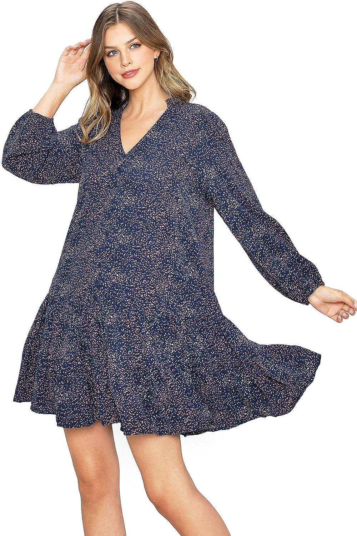 Love Stitch Women's Shift Dress Ruffle Casual A-Line Dress