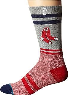 Men's Crimson Hose Crew Sock, Red, Sock Size:10-13/Shoe Size: 6-12
