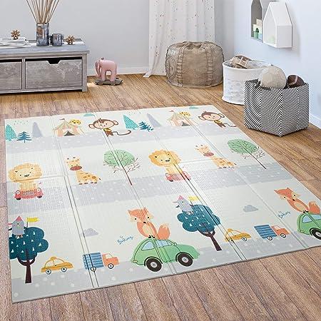 Fisch OUNUO Baby Spielmatte Spielteppich Doppelseitige Krabbelmatte 200 x 180 cm Spieldecke faltbare Krabbeldecke babymatte Kinder Matte gym yoga matte