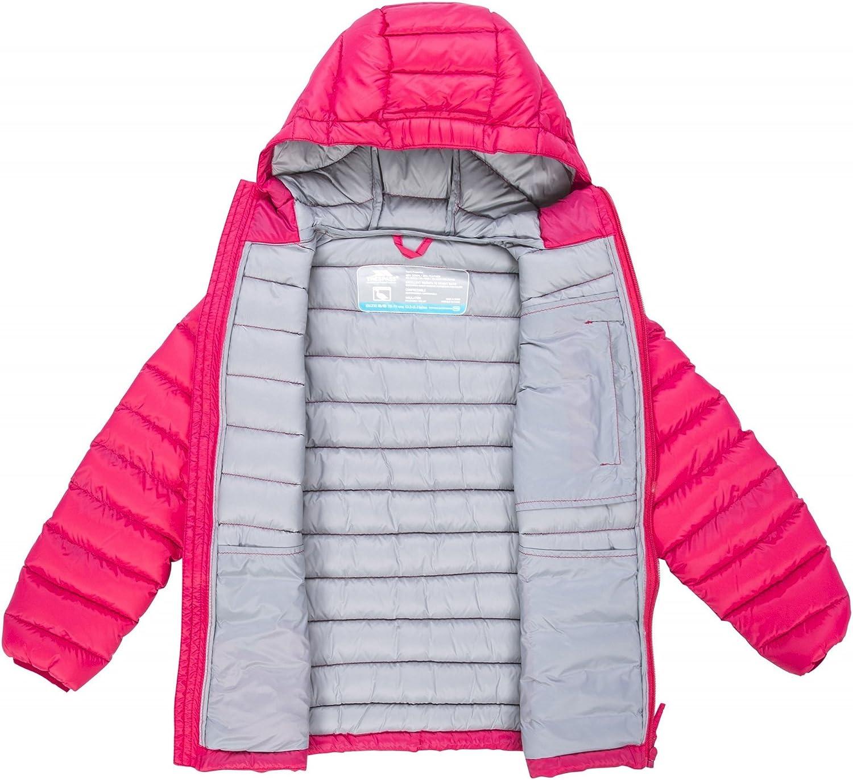 Trespass Kids Morley Compact Pack Away Warm Waterproof Winter//Rain Outdoor Jacket with Hood