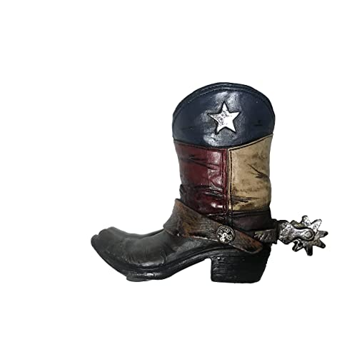 Polly House Texas Western Style Cowboy Cowgirl Texas Boot Pencil Holder  Small Vase 80d530459ba6