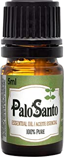 Energy Cleansing Palo Santo Essential Oil 100% Pure, Undiluted, Natural Aromatherapy, 5 Milliliter (1/6 Ounce)