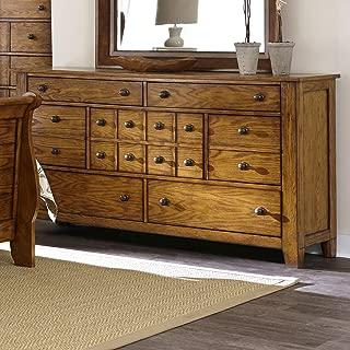 Liberty Furniture Grandpas Cabin Bedroom 7 Drawers, Aged Oak Finish