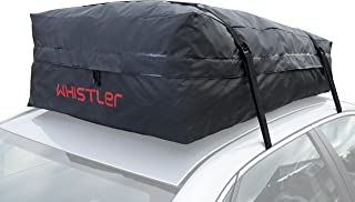 Whistler Car Roof Bag Bundle - 100% Waterproof oof Top Cargo Bag NO Rack Needed + Non Slip Roof Mat, for Any Car Van or SUV