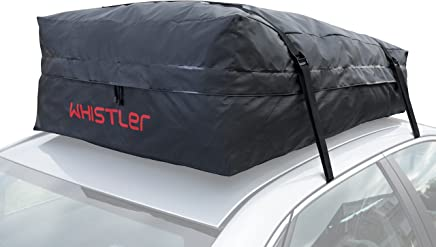 Car Roof Bag Bundle- 100% Waterproof Roof Top Cargo Bag NO RACK NEEDED + Non Slip Roof Mat & Storage bag, For Any Car Van or SUV (15 Cubic Feet)