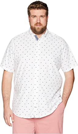 Big & Tall Short Sleeve Print Woven