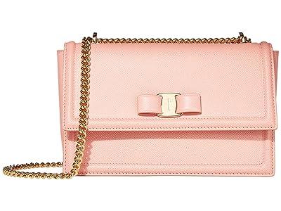 Salvatore Ferragamo Ginny Crossbody (Desert Rose) Handbags