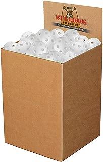 JUGS Bulldog White Poly Baseballs - bulk box of 100