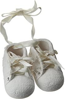 """Foundations Baby's First Shoes Personalizable Stone Resin Ornament, 1.75"""""""