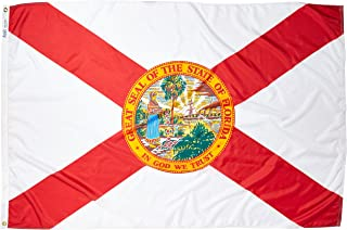 Annin Flagmakers Model 140970 Florida State Flag 4x6 ft. Nylon SolarGuard Nyl-Glo 100% Made in USA to Official State Design Specifications.
