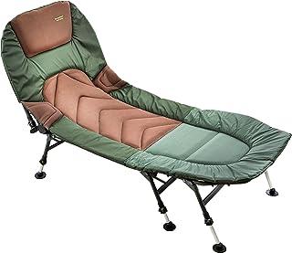 MK-Angelsport Relax fiskslinga 8 ben karpsäng upp till 150 kg lastbar fiskeläge sängstol trädgårdslounget modell 2021