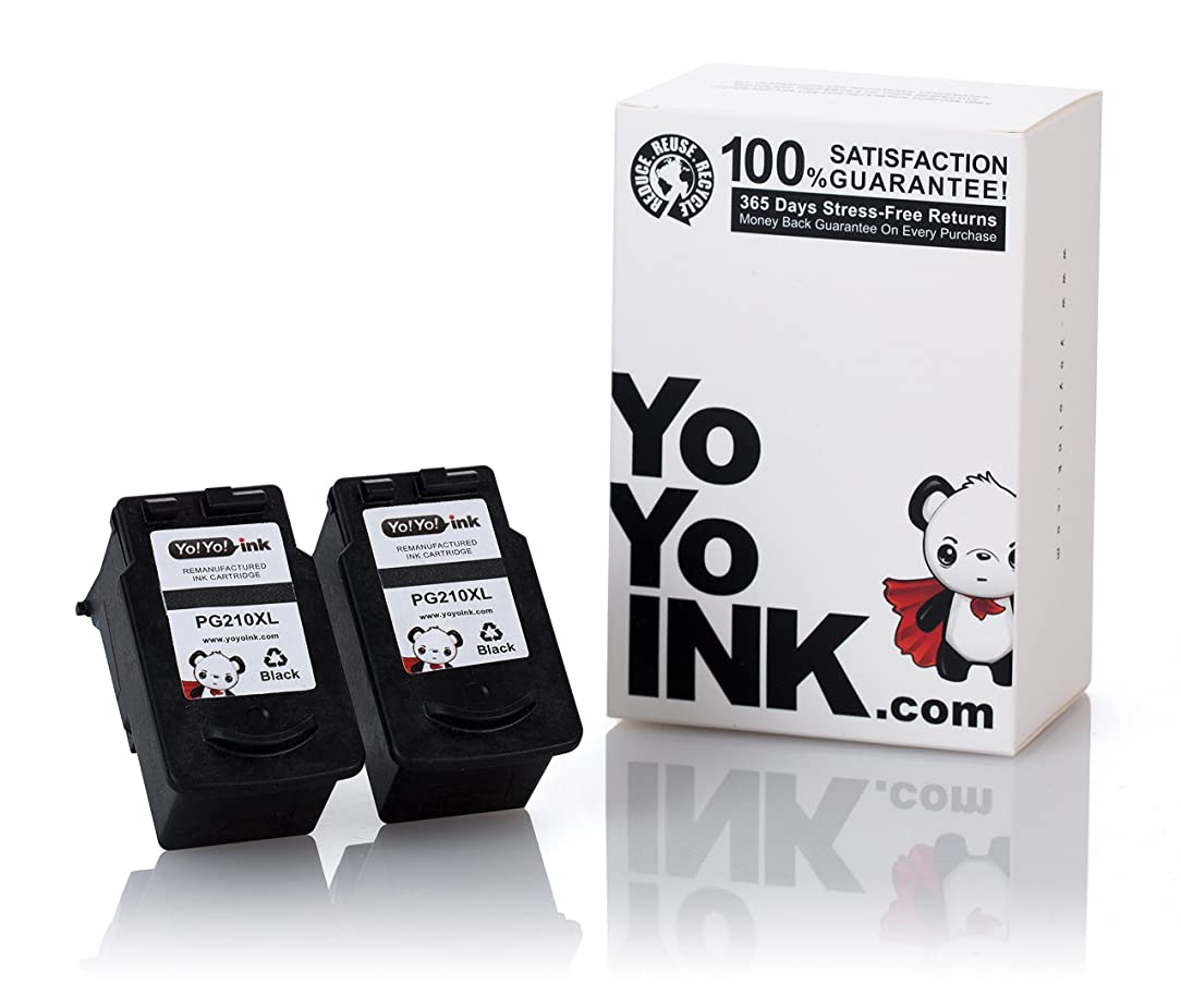 YoYoInk Remanufactured Ink Cartridges Replacement for Canon PG210XL 210 XL (2 Black)