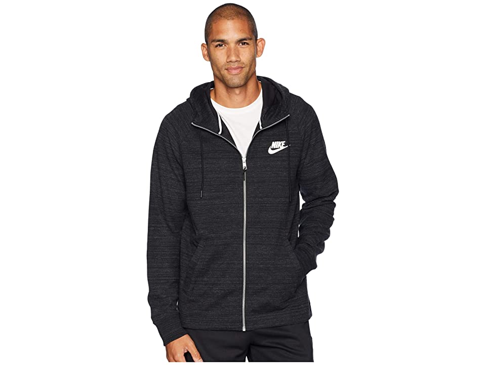 Nike NSW AV15 Hoodie Full-Zip Knit (Black/Heather/White) Men