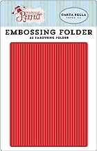 Carta Bella Paper Company A2 Embossing Folder -Perfect Stripe