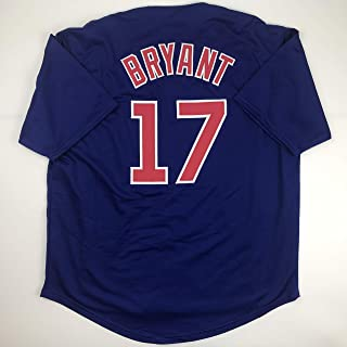 fed6cbc9d25 Unsigned Kris Bryant Chicago Blue Custom Stitched Baseball Jersey Size  Men s XL New No Brands