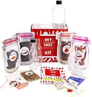 Spoil Yourself or a Loved One with this UNIQUE Gift Idea. A Hot Sauce Making Kit has All Natural & Spicy Ingredients - 3 x...