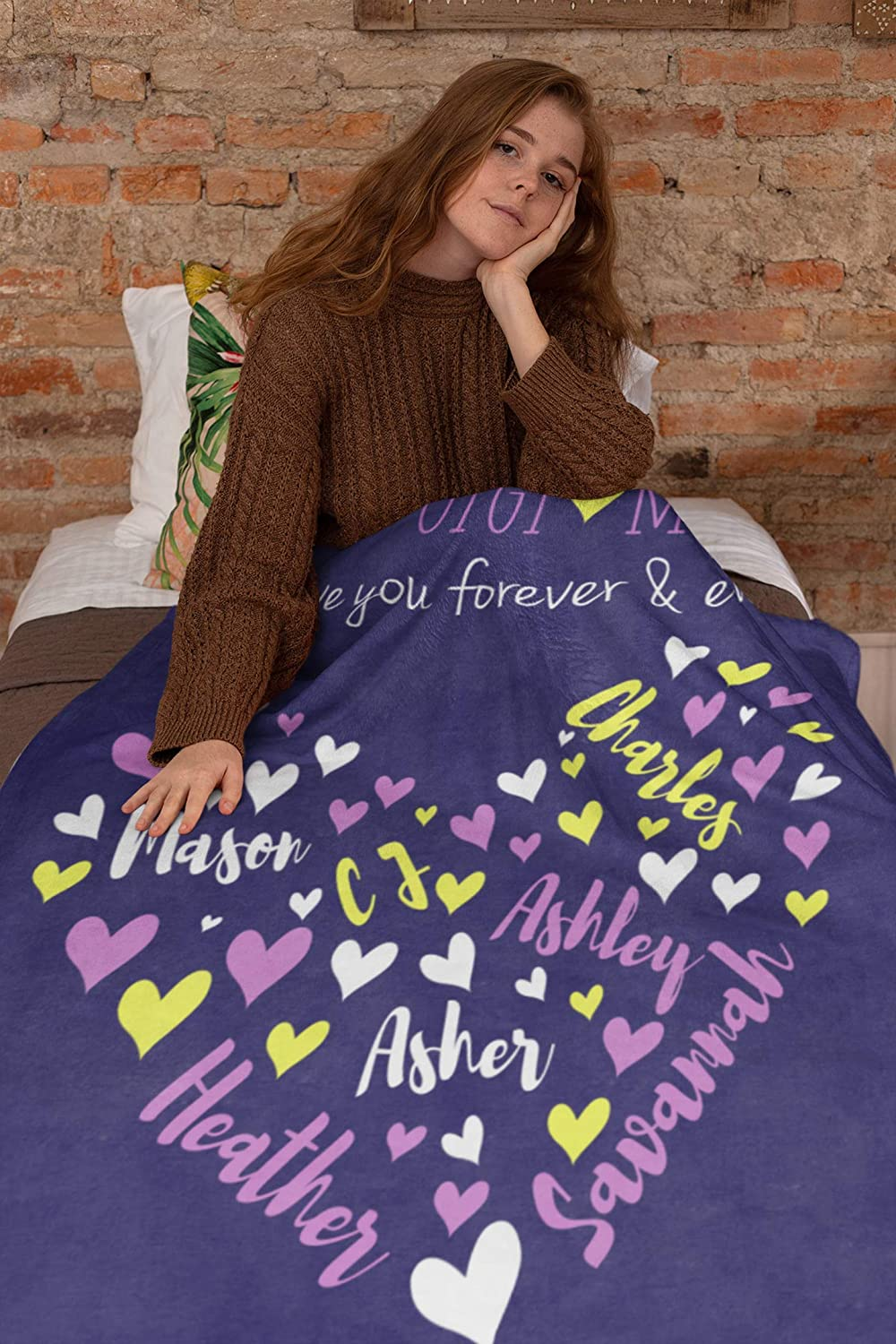 Personalized Name Blanket for デポー Your Custom wit Mom 正規店 Throw