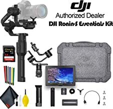 DJI Ronin-S Essentials Kit 3-Axis Gimbal Stabilizer for Mirrorless and DSLR Cameras with 64GB Memory Card and External Monitor - Advanced Kit