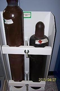 "Torch Bottle Holder, 42"" Tall, Dual Clamping, 9"" Max Diameter Bottles"