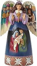 Jim Shore for Enesco Heartwood Creek Nativity Angel -Sculpted Wings Figurine, 9.5-Inch