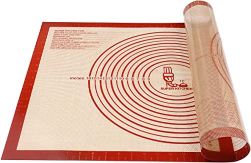 Tapis à pâtisserie en silicone antidérapant Extra Large avec mesures 71 × 51 cm pour tapis de cuisson, Tapis de compt...