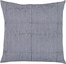 Kraftly Global Meeraaki Home Décor White & Black Cotton Throw Pillow Case Cushion Cover for Sofa & Bed Set of 2, 16 x 16 inches