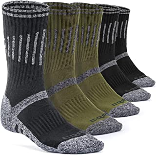 CQR Men's (Pack of 3,  5) Tactical Hiking Military Boot Trail Trek Outdoor Socks