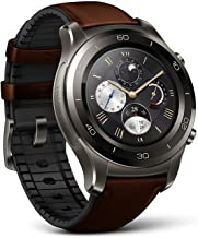 Huawei Watch 2 Classic Smartwatch – Ceramic Bezel- Brown Leather Strap(US Warranty)