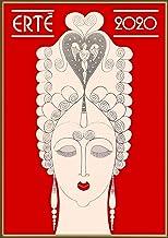 Calendario de pared 2020 [12 páginas 8 x 11 pulgadas] Erte Art Nouveau artista francés Vintage Póster Illustration