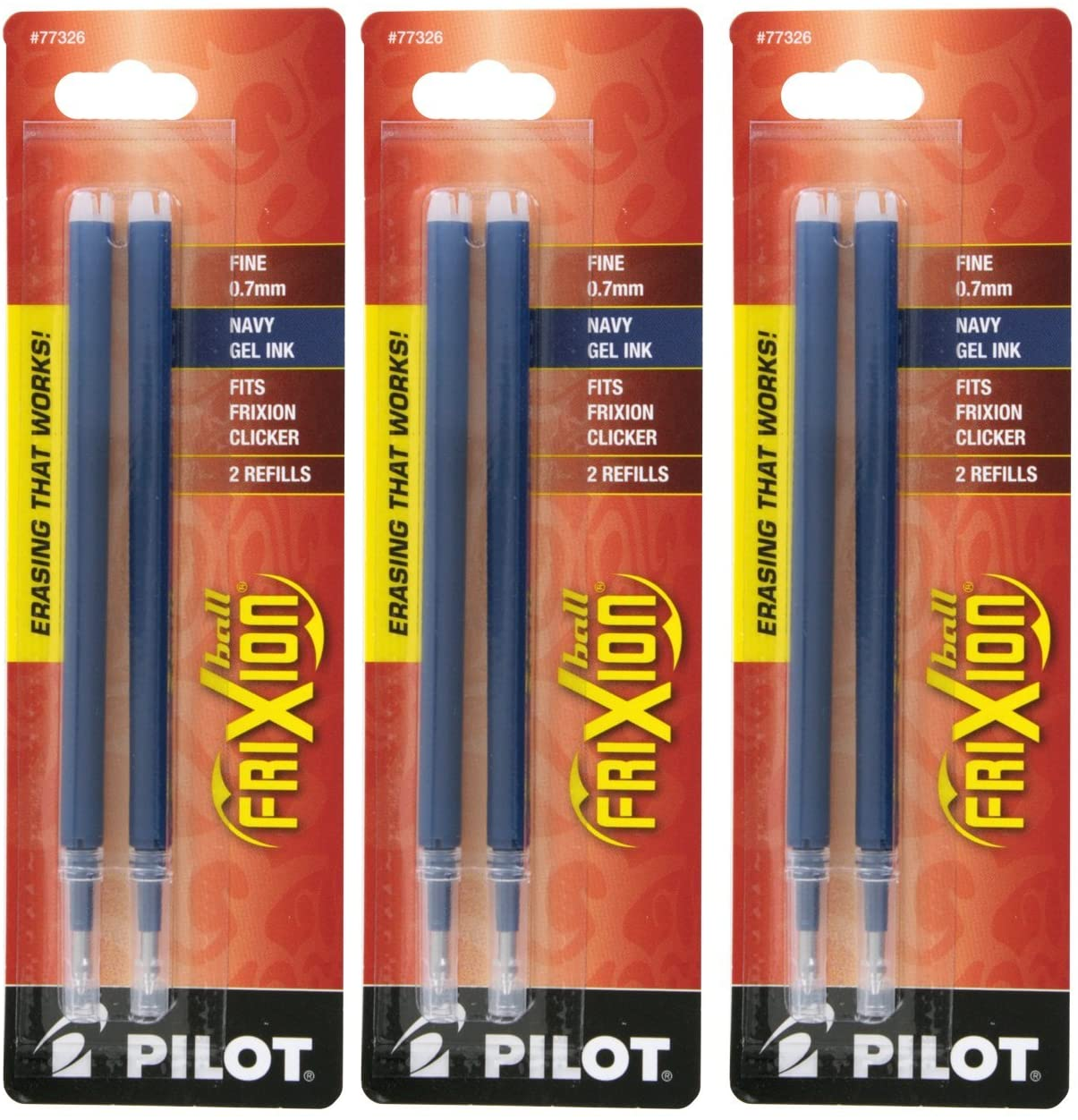 Pilot Frixion Gel Ink Pen All items free shipping Inventory cleanup selling sale Refills Blue Point I Fine 0.7mm Navy