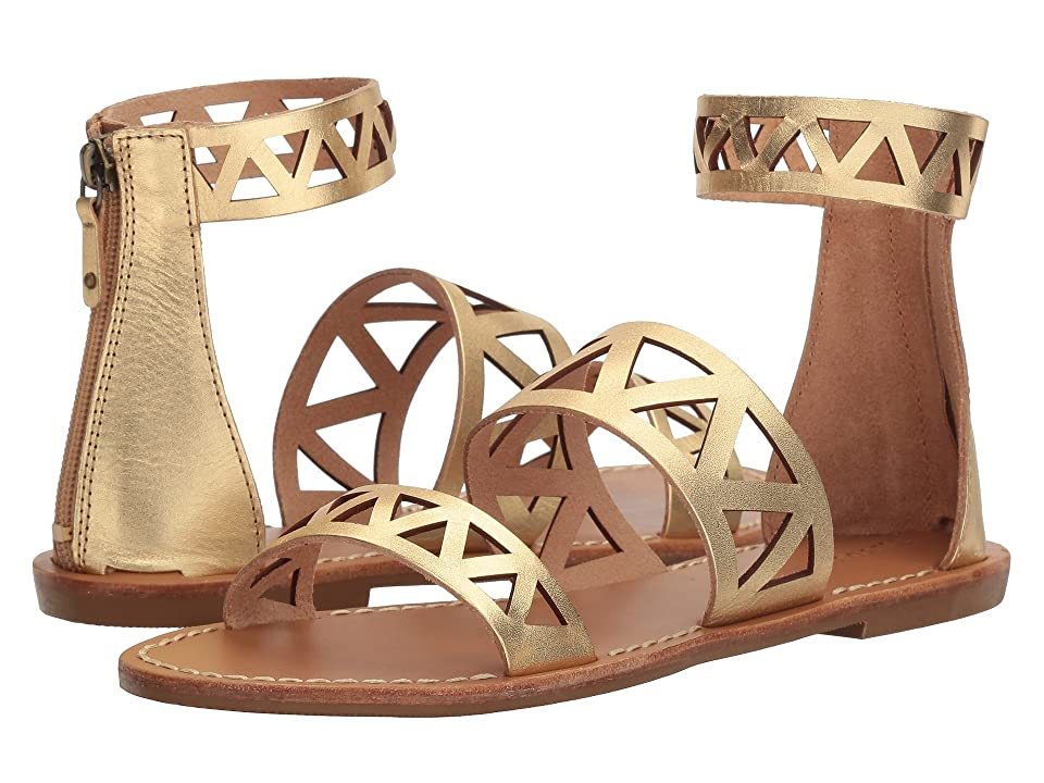 Soludos Geo Laser Cut Band Sandal (Gold) Women