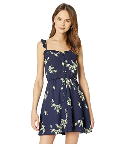 Cupcakes and Cashmere Lynette Floral Print Dress (Ink) Women
