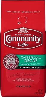 Community Coffee Café Special Decaf Medium Dark Roast Premium Ground 12 Oz Bag, Full Body Rich Flavorful Taste, 100% Select Arabica Coffee Beans