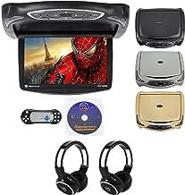 "Rockville RVD14BGB Black/Grey/Tan 14"" Flip Down DVD Monitor w/ Games+Headphones"