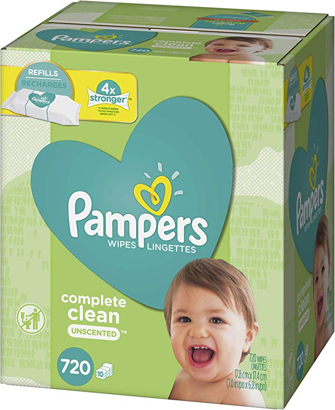 Baby Wipes Pampers Sensitive Water Baby Diaper Wipes Complete Clean Unscented 10 Refill Packs For Dispenser Tub 720 Total Wipes
