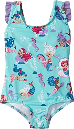 Hatley Kids Underwater Kingdom Ruffle Swimsuit (Toddler/Little Kids/Big Kids)